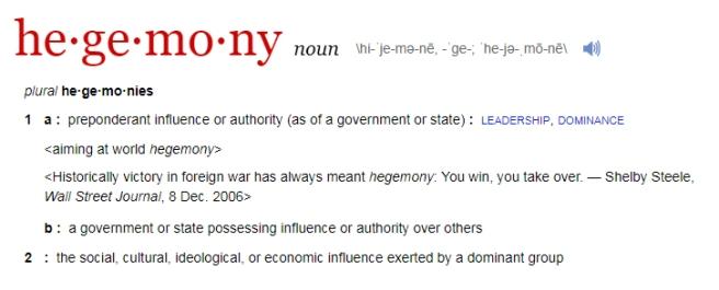 Hegemony def